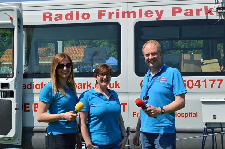 Some of the Radio Frimley Park team